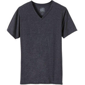 Prana V-Neck SS Shirt Men Charcoal